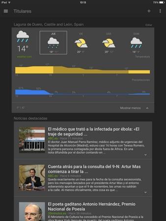 Noticias y Tiempo de Google para iOS