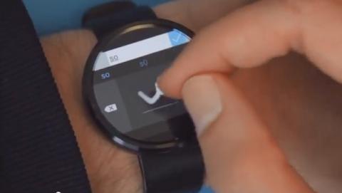Microsoft crea un teclado analógico... para relojes Android Wear.