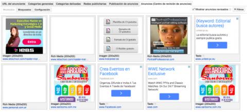 Centro de revisión de anuncios Google AdSense