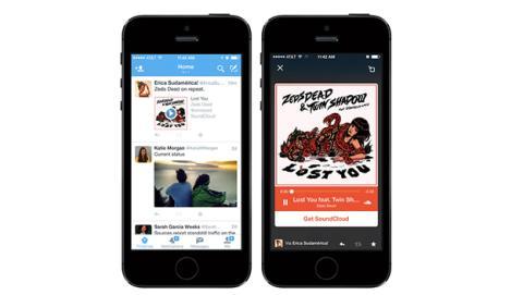 Twitter permitirá escuchar música desde el 'timeline'