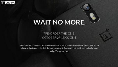 Reservas de OnePlus One, el 27 de octubre... Sólo una hora.