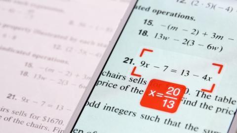 PhotoMath, la app que resuelve problemas de matemáticas.