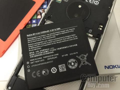 Lumia 830 por dentro