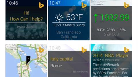Así es Bing Torque, asistente de Microsoft para Android Wear