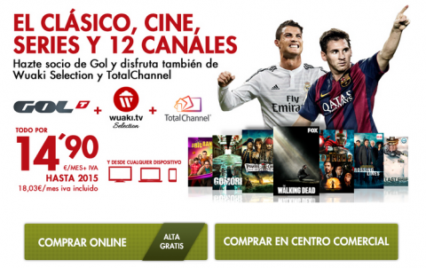 Ver online Madrid Barcelona en GolTV