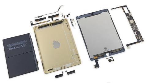 iPad Air 2 tiene menos batería y NFC sin antena según iFixit.