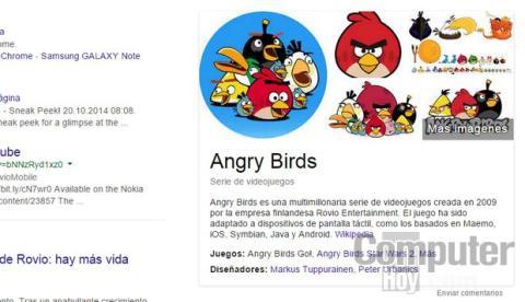 Buscador Google Angry Birds
