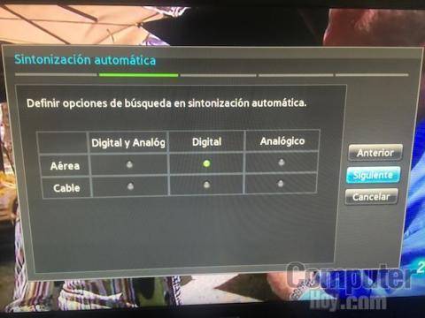 TDT resintonizar televisor