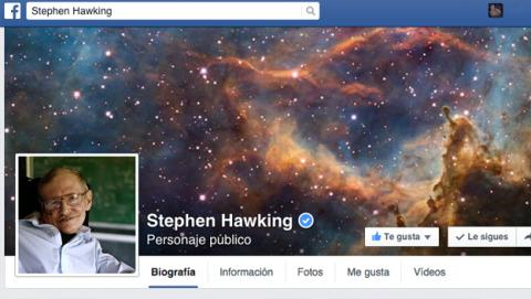 Stephen Hawking se abre perfil oficial en Facebook