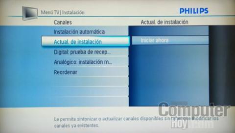 philips televisión actualización