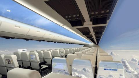 Aviones transparentes protagonizarán los viajes del futuro
