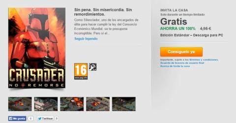 Juego gratis EA Crusader