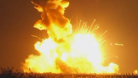 Explosión cohete antares