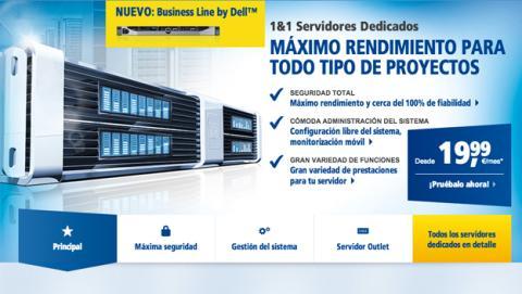 1&1 lanza gama de Servidores Dedicados Business Line by Dell1&1 Lanza gama de Servidores Dedicados Business Line by Dell