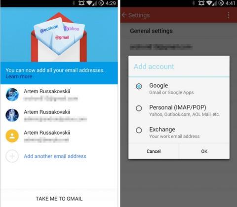 Nuevo Gmail 5 con soporte Material Design y multicuenta