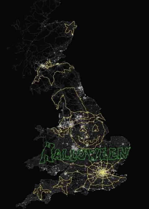 Dibujo GPS de Halloween