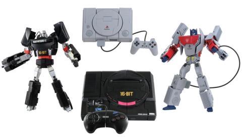 El robot Transformers que se convierte... ¡en consola de 16 bits Sega Megadrive y Sony PlayStation!