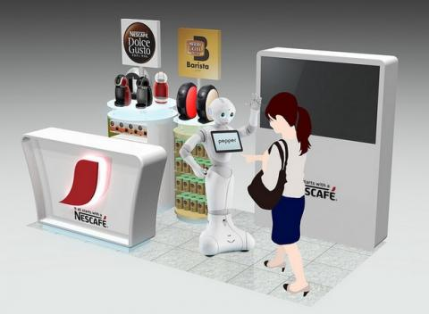 Nestcafé robot Pepper