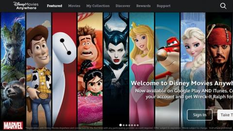 Disney Movies Anywhere: paga una vez y descarga películas en iTunes y Google Play, donde tu quieras.
