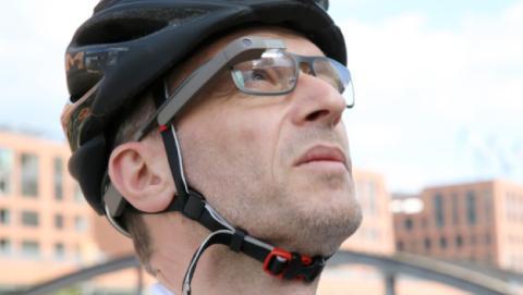 Ciclista google glass