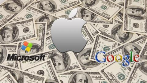 Apple, Microsoft y Google, las compañías más valiosas del mundo.