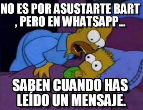 memes del doble check azul de WhatsApp
