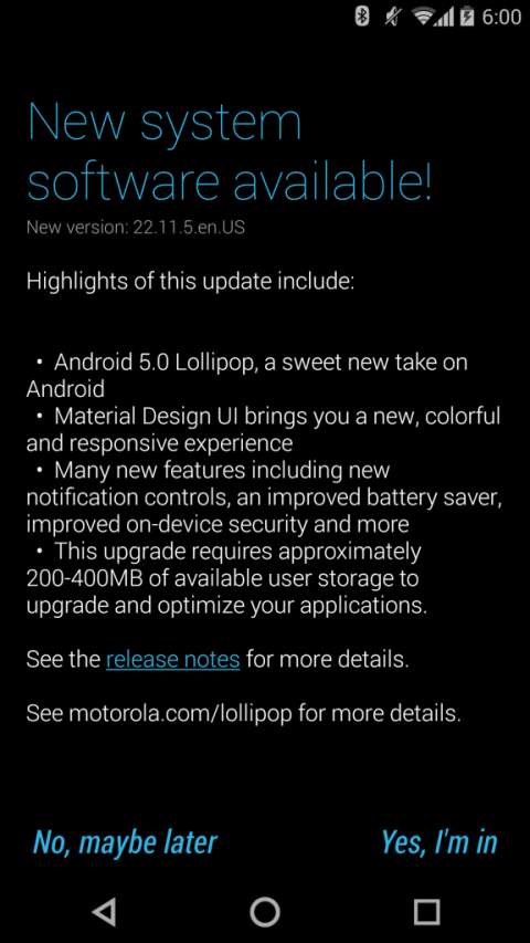 moto x android 5.0