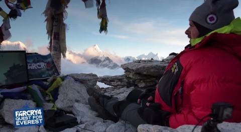 Juega a Far Cry 4 a 5.660 metros de altitud, en el Everest, para  batir el récord Guinness.
