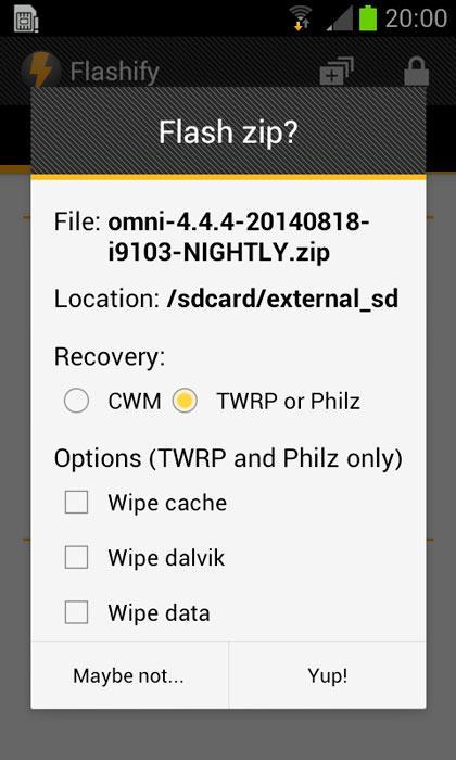 Instala la nueva ROM en tu Android