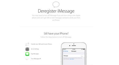 Desvincula iMessage de tu número de teléfono
