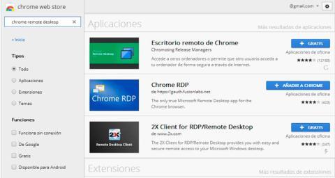 Instala la extensión en Chrome