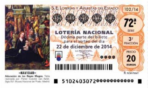 Sorteo Lotería de Navidad 2014