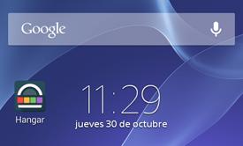 Pantalla inicio Android