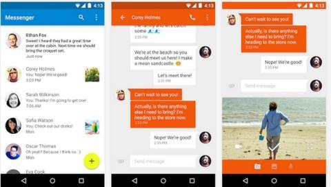 Google Messenger es la nueva app de mensajería de Google, para enviar mensajes SMS y MMS, chats en grupo, y compartir audio y vídeo.
