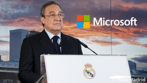 Microsoft patrocinará al Real Madrid con 24 millones de € durante cuatro años.
