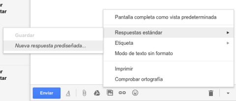 Guardar respuesta estándar en Gmail