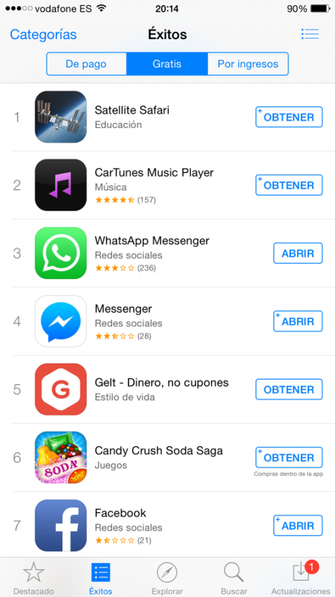 Apple re-etiqueta las apps gratuitas
