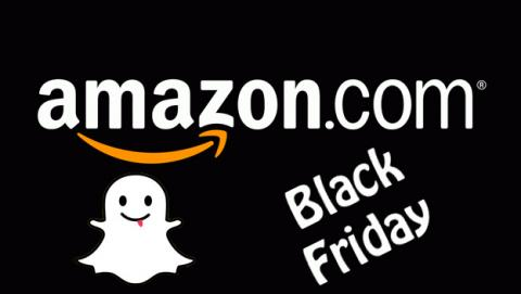Black Friday: Amazon usa Snapchat para mostrar sus ofertas