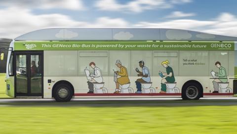 Bio-bus, el primer autobús que funciona con... excrementos humanos y restos de comida.