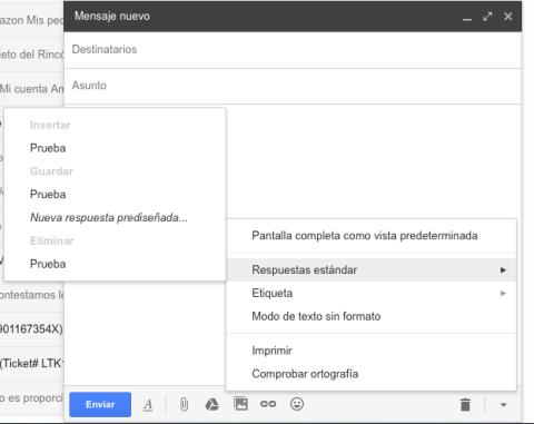 Respuestas estándar en Gmail