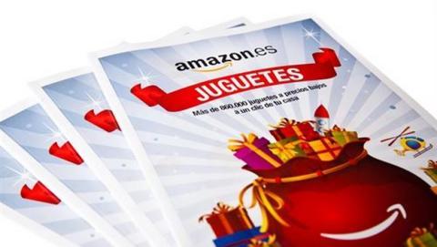 Amazon.es distribuye su primer catálogo de juguetes en papel, para captar nuevos clientes en Navidad 2014.