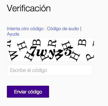 Verificación de Yahoo! Mail