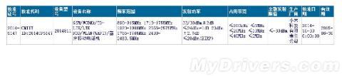 Certificación china de tablet Xiaomi
