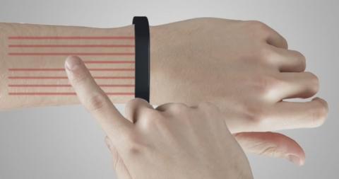 Cicret Bracelet, pulsera con picoproyector