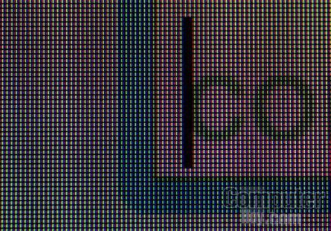 La matriz RGB de esta pantalla es extremadamente densa