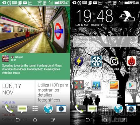 La interfaz HTC Sense y Blinkfeed son marca de la casa de HTC