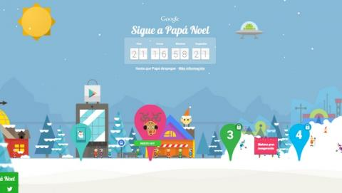Sigue A Papa Noel La Web Con Juegos Navidenos De Google