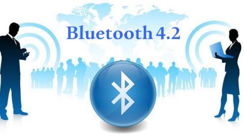 Bluetooth 4.2, más rápido en modo Bluetooth LE, compatible con IPv6 y con protección anti-balizas informativas.