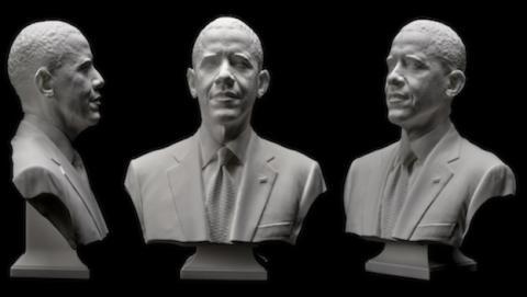 Obama se hace retrato en 3D