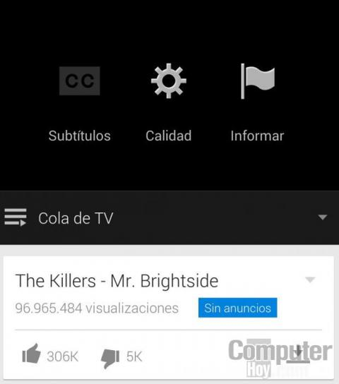 opciones Youtube music Key